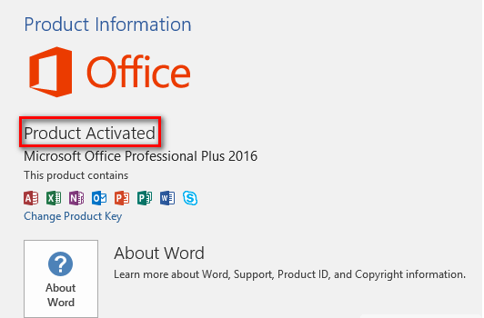 Microsoft Office Professional Plus 2016 Product Key 100% Working